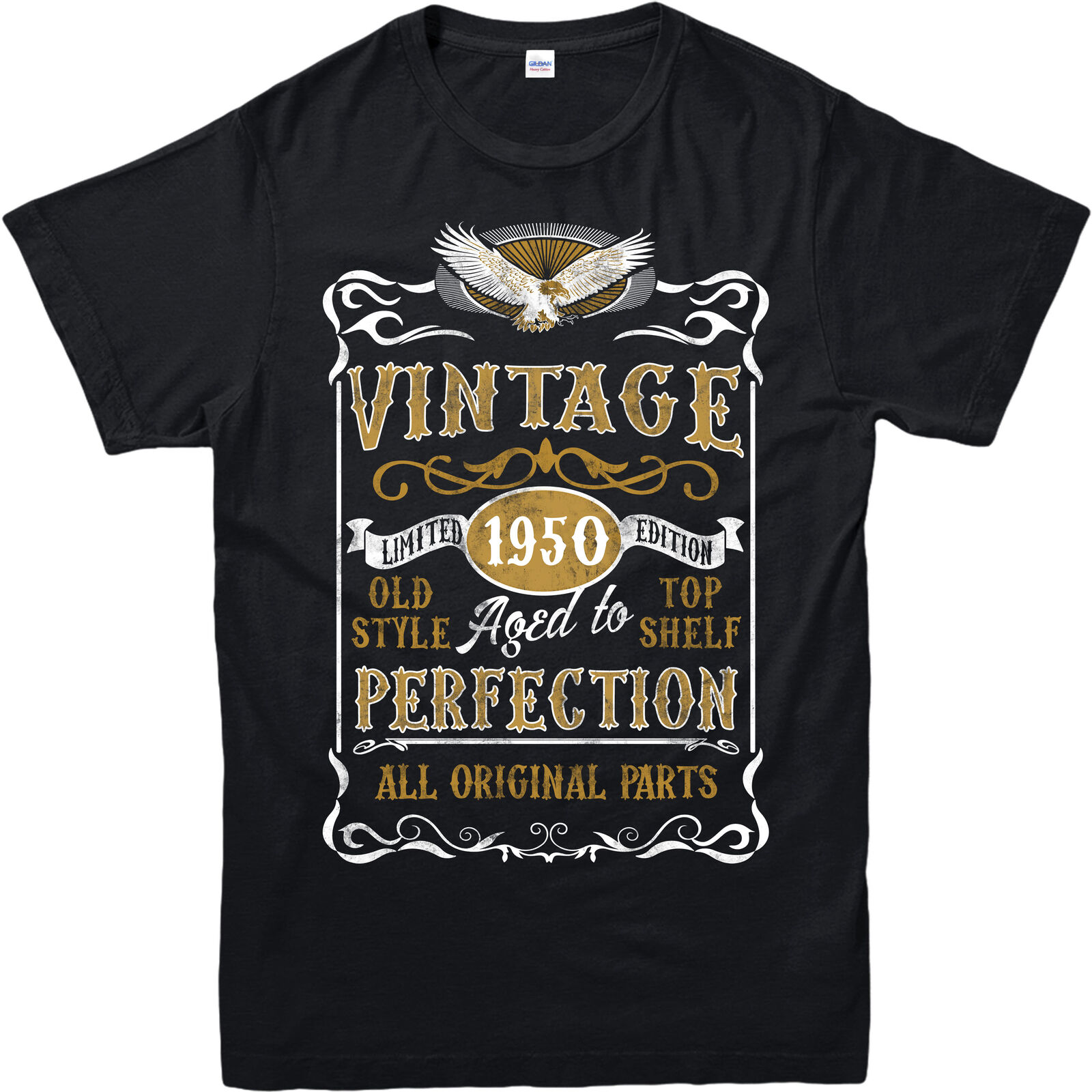 Personalised Made In 1950 Vintage T Shirt Born 1950 Birthday Age Year Gift Top