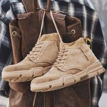 Мужские кожаные ботинки со шнуровкой черные повседневные водонепроницаемые