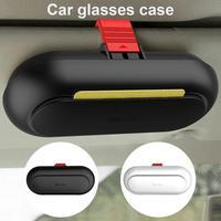 Car Glasses Case Multi-function Sunglasses Box Sun Visor Buckle Storage Box Bill Card Storage Box Car Accessories