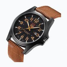 Часы наручные мужские кварцевые с нейлоновым ремешком модные