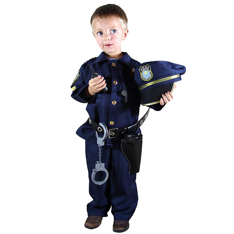 Deluxe Police Officer Costume and Role Play Kit Boys Halloween Carnival Party Performance Fancy Dress Uniform Outfit| | - AliExpress