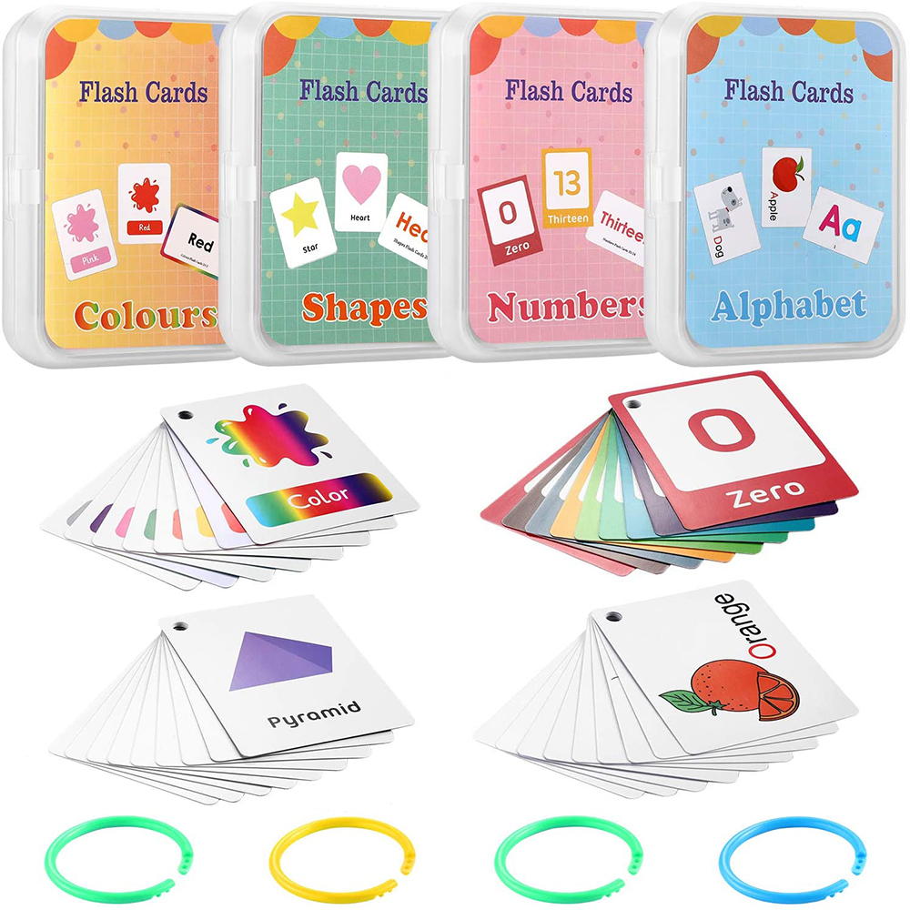Montessori English Learning Cards Toy Animal Flash Card Pocket Cards Learning Educational Toys English Word Picture Match Game