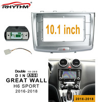 10.1inch car Fascia for GREAT WALL H6 SPORT 2016 2018 Double Din dvd Frame Audio Fitting Adaptor Fascias Panel In dash Trim Kits