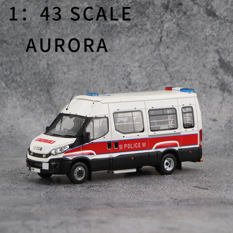 1:43 SCALE  AURORA  POLICE   MODEL CAR  IVECO DAILY  TACTICAL(PTU) VERSION  RARE  COLLECTION