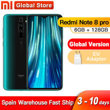 Spanyol Luar Negeri Global Versi Xiaomi Redmi Note 8 Pro 6GB 128GB 64MP Quad Kamera MTK Helio g90T Smartphone 4500 NFC(China)
