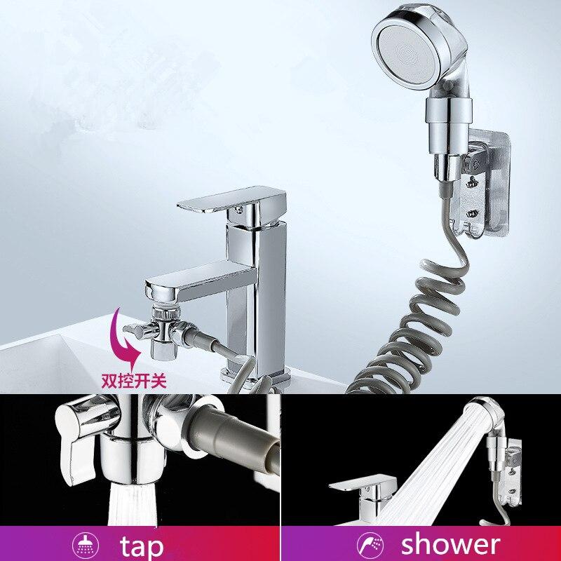 Solid Brass Diverter Valve Faucet External Shower Hand Toilet Faucet Filter Flexible Suit Wash Hair House ABS Shower Head