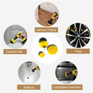 Image 5 - Electric Scrubber Brush Drill Brush Kit Plastic Round Cleaning Brush For Car Glass Car Tires Exterior Accessories