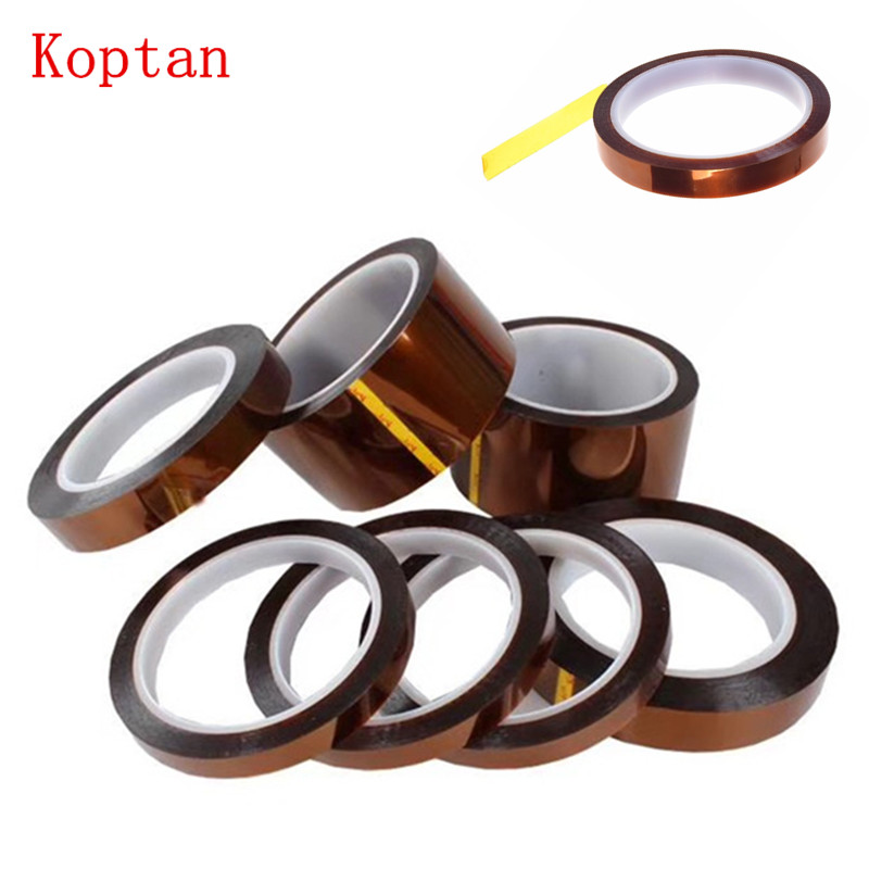 High Temperature Resistant Tape Kapton Thermal Insulation Tape 5-10-15-20-x33M 3D Printer Parts prot