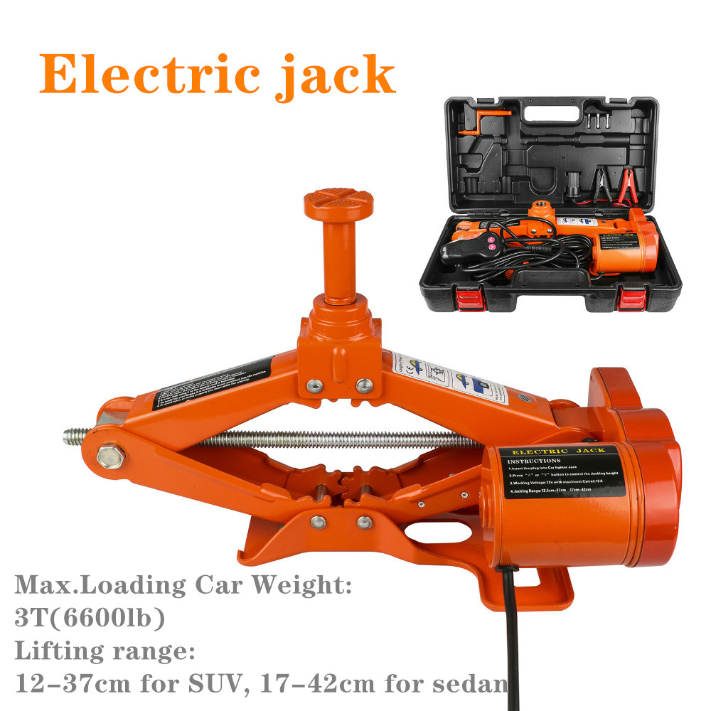Portable 12V Car Jack 3Ton Electric Jack Auto Lift Scissor Jack Lifting Machinisms Lift Jack