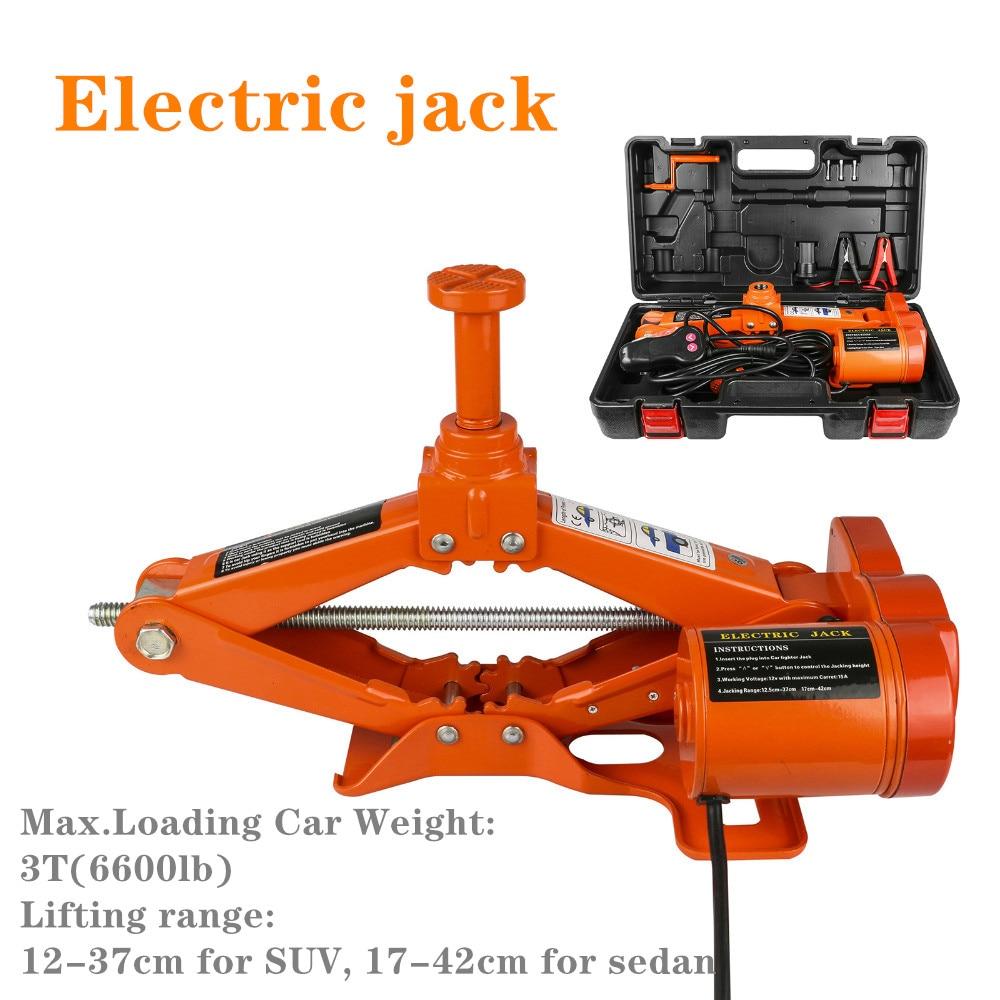 Portable Car Jack 3 Ton 12V Electric Lift Jack Car Lift Scissor Lift