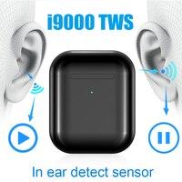 Original i9000 tws 1:1 Aire 2 Smart Sensor Pop Up Earbuds Black Wireless Charging Bluetooth Earphones pk H1 Chip i200 i500 tws