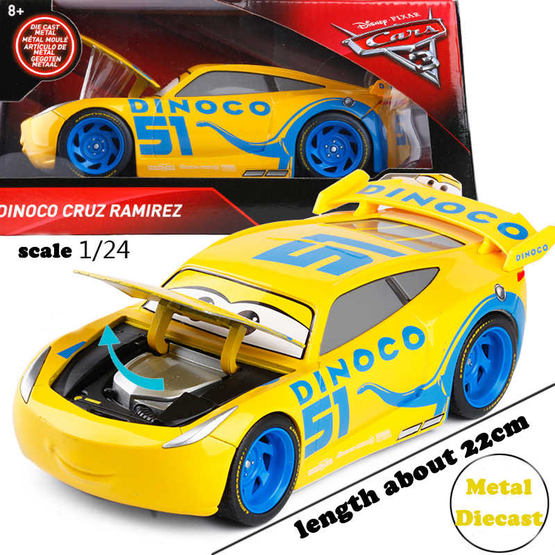 Disney Pixar Cars 3 Large Cruz Ramirez 1 24 Alloy Car Model