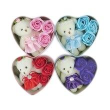 Горячая Распродажа, набивные игрушки в виде животных с мультяшным мишкой плюшевая кукла в форме сердца подарочной коробке романтический св...