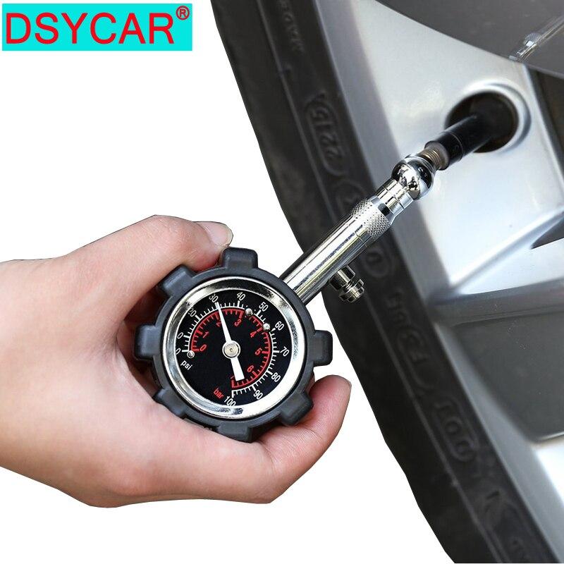DSYCAR 1 個高精度タイヤ圧力計計テーブル車のオートバイバイクトラック RV SUV ATV-100 PSI 自動テスター Diagn