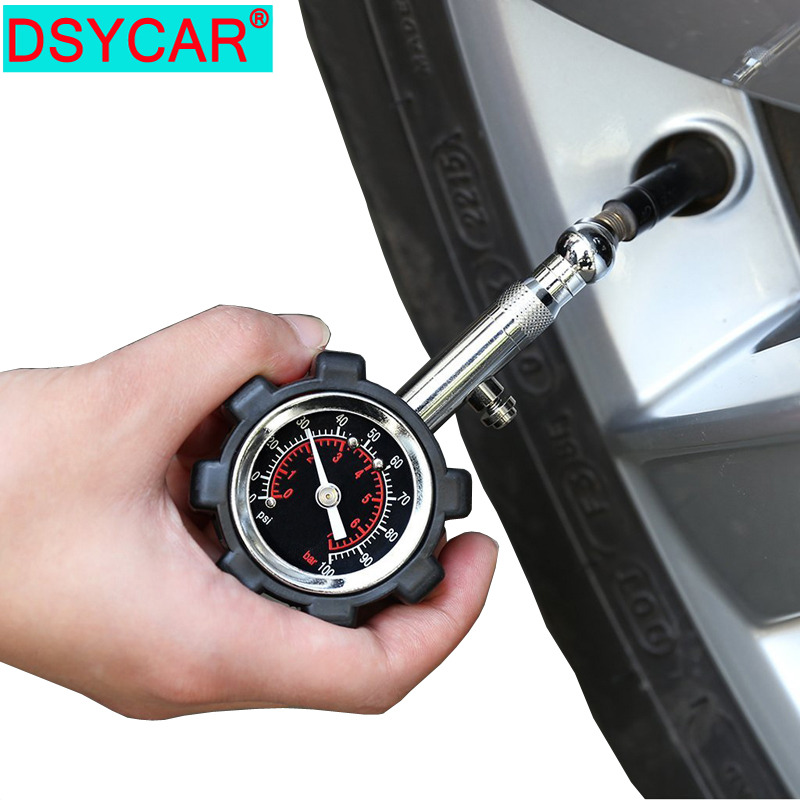 DSYCAR 1Pcs 자동차 오토바이 자전거 트럭 RV SUV ATV-100 PSI 자동 테스터 diagn에 대 한 높은 정밀도 타이어 압력 게이지 미터 테이블