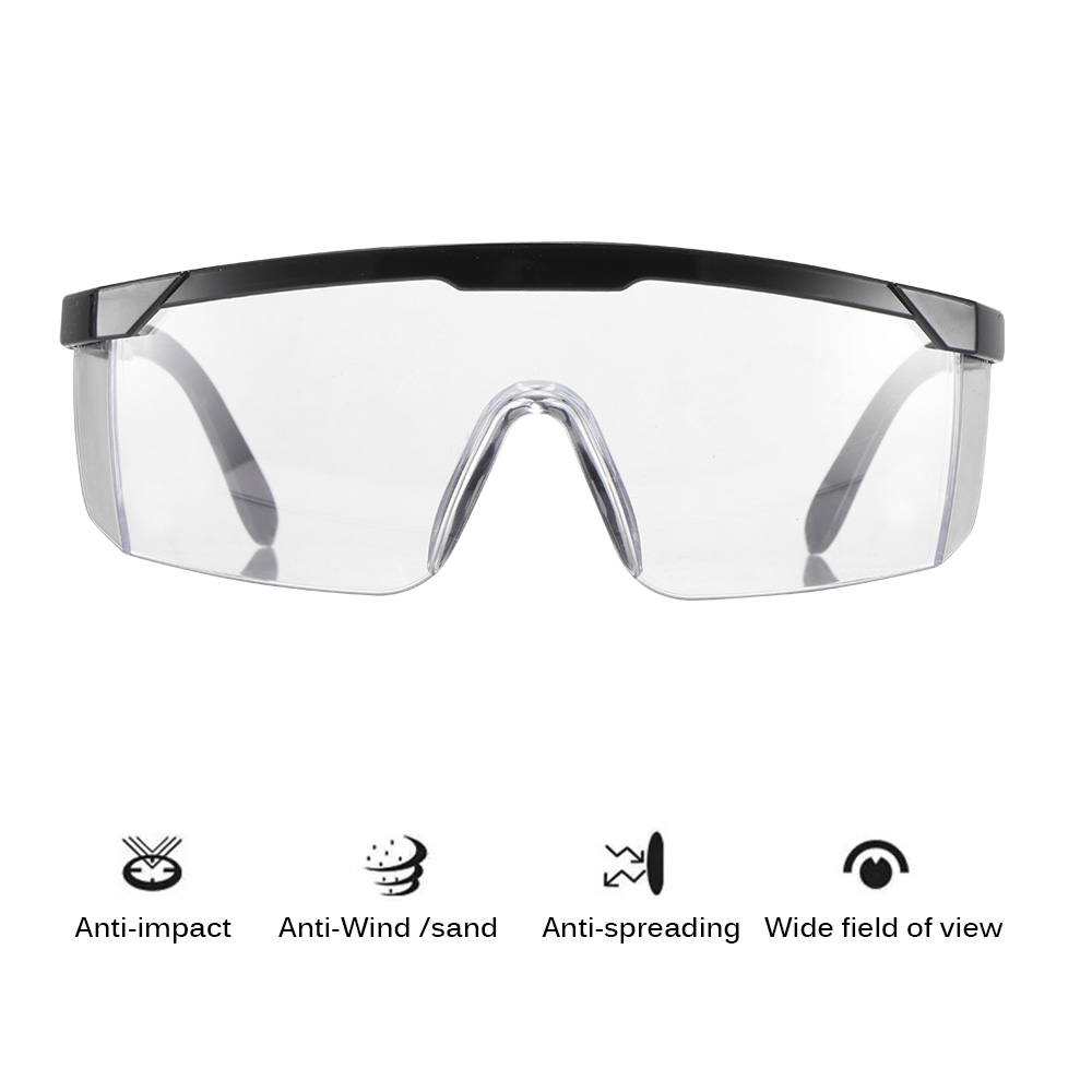 99.9% Anti-Virus Safety Goggles For Eyes Protection Windproof Dustproof Resistant Transparent Glasses Protective Safety Eyes