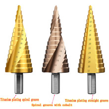 цена на Tool drill step titanium speed coating steel cone hole cutter 4-32mm high drill step drill