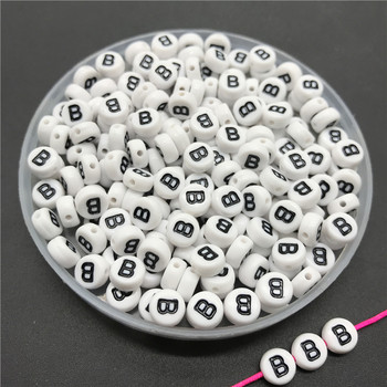 100pcs/lot 4x7mm Acrylic Spacer Beads Letter Beads Oval Alphabet Beads For Jewelry Making DIY Handmade Accessories 35