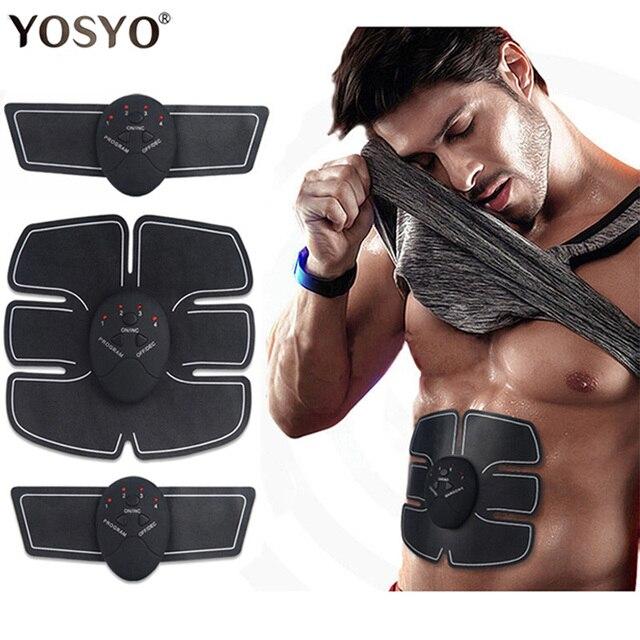EMS беспроводной стимулятор мышц Тренажер умный фитнес тренировка брюшной полости Электрический потеря веса наклейки для тела пояс для поху...
