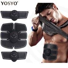 EMS, беспроводной стимулятор мышц, тренажер, умный фитнес, тренировка живота, Электрические наклейки для похудения, пояс для похудения, унисекс