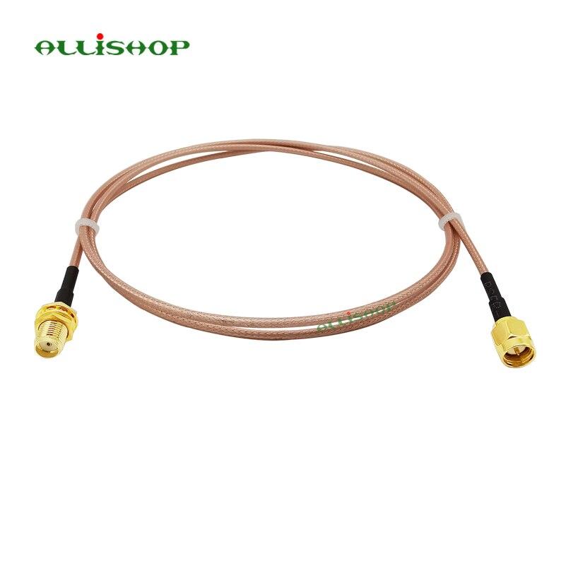 SMA mâle à SMA femelle Queue De Cochon RG316 câble RF à faible perte prise jack connecteur pour WIFI FPV Antenne GSM, LAN 0-6Ghz 1 pièces ALLiSHOP