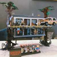 Stranger things obracając świat do góry nogami kompatybilny legoing 75810 Model klocki zestaw klocków zabawki świąteczny prezent