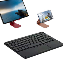 Cell Phone 59Keys Wireless Bluetooth Keyboard For iPhone iPad Android Tablet PC Universal Portable Mini Keyboard With Touchpad