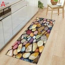 Tapete de cozinha moderna longa faixa de entrada do quarto capacho 3d padrão casa decoração do assoalho sala de estar tapete banheiro antiderrapante