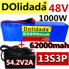 2021 NEW 48V62Ah 1000w 13S3P 48V Lithium ion Battery Pack For 54.6v E-bike Electric bicycle Scooter with BMS+54.6V Charger
