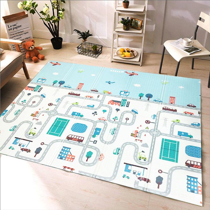 XPE складной детский игровой коврик 1 см, толстые ползающие игрушки для детей, коврик для скалолазания, Gyme, игровой Дорожный Коврик для гостин...