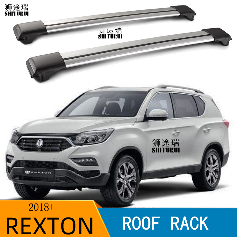 2Pcs Roof Bars For  Ssangyong  REXTON G4 2018+ Suv  Aluminum Alloy Side Bars Cross Rails Roof Rack Luggage