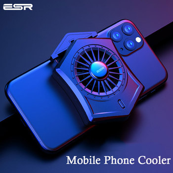 ESR Mobile Phone Cooler Phone Cooling Fan Cooling Pad for iPhone Samsung Xiaomi Support PUBG Smartphone Cooling Pad For Gaming