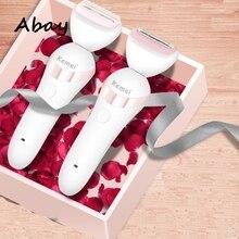 Abay 5в1 женский станок для бритья женский эпилятор с триммером эпилятор для лица Бикини тела ног подмышек