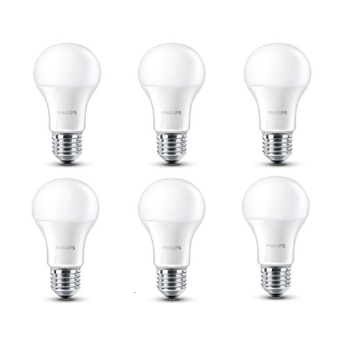 Philips - Pack De 6 Bombillas LED, Luz Blanca Cálida, 6 W, Equivalente A 40 W, Casquillo E27, No Regulable