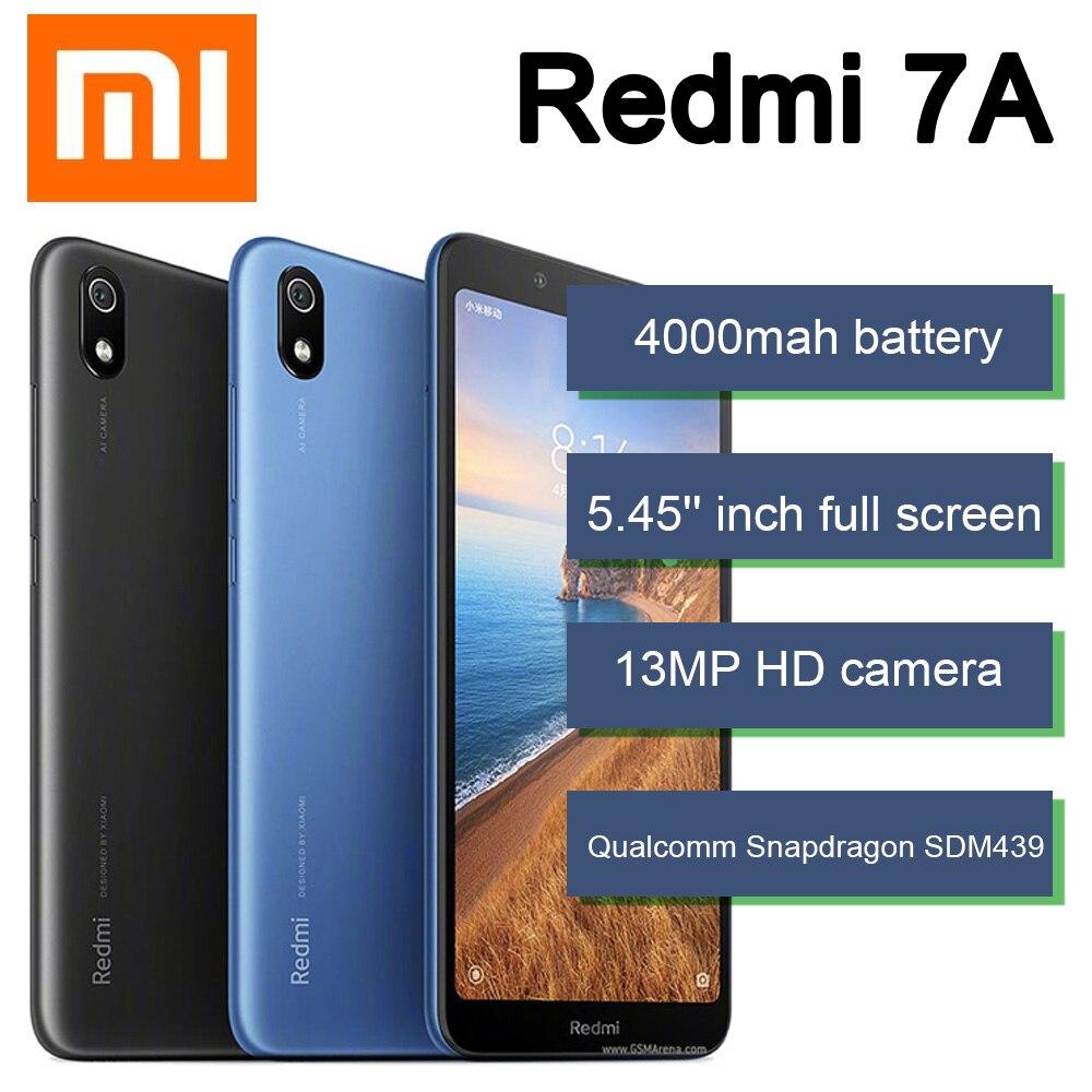 Смартфон Xiaomi Redmi 7A, 3 ГБ + 32 ГБ, аккумулятор 4000 мАч, процессор Snapdragon 439, сотовый телефон с экраном 5,45 дюйма, камера 13 МП, Google Play