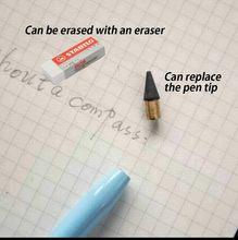 Papelaria de lápis de grafite eterna impermeável, lápis de carvão sem tinta infinita para crianças que praticam palavras, para o papel branco