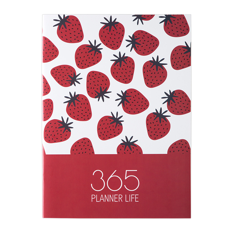 <font><b>2020</b></font> <font><b>Planner</b></font> Agenda A4 Diary Notebook and Journals Kawaii Fruit Weekly Monthly Note Book Cute Back to School Travel Handbook image
