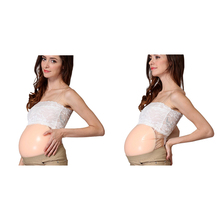 100% Silicone Fake Pregnant Belly Jelly Belly, Disguised Pregnant Women Fake Belly Halloween COS Props