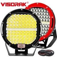 VISORAK 9 378W Super Bright ATV LED Work Light Bar 4x4 4WD SUV Offroad LED Light Boat LED For 4WD 4x4 Car SUV ATV Offroad Truck