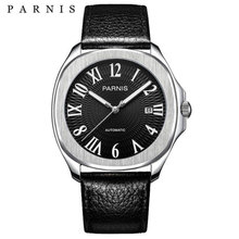 Parnis luxury Automatic Watches Minimalist Watches Mens Wrist Watch Sapphire Crystal Mechanical Watches 154 cheap 10Bar Leather Deployment Bucket Fashion Casual Automatic Self-Wind 23cm Stainless Steel Auto Date Complete Calendar Luminous Hands