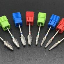 8 стилей выбор карбида вольфрама сверла для ногтей машина для резки ногтей пилка для маникюра Карбидное сверло для ногтей и стоматологические боры