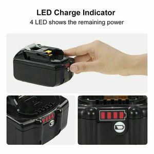 Image 4 - עם מטען BL1860 נטענת Batteries18V 6000mAh ליתיום יון עבור מקיטה 18v סוללה 6Ah BL1840 BL1850 BL1830 BL1860B LXT400