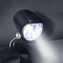 Światło rowerowe elektryczny rower 6V przedni LED reflektor e światło rowerowe lampa rowerowa ostrzeżenie o bezpieczeństwie rower na akumulator akcesoria