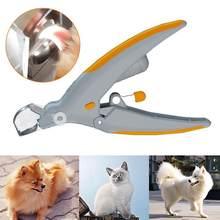 Cão de estimação profissional cortador gato e cão máquina de cortar unhas máquina de corte beleza tesoura animal gato fechaduras pet led luz aparador de unhas
