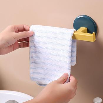 1PC gospodarstwa domowego naścienny wieszak na ręczniki w kształcie litery T wieszak na ręczniki łazienka bez paznokci wieszak na ręczniki wieszak na ręczniki uchwyty do przechowywania tanie i dobre opinie Typ ścienny