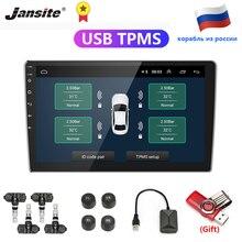 Jansite USB אנדרואיד TPMS רכב צמיג לחץ מעורר צג מערכת עבור רכב אנדרואיד נגן טמפרטורת אזהרה עם ארבעה חיישנים