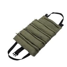 Рулон инструмента рулон многоцелевой инструмент рулон сумка гаечный ключ рулон мешок подвесной инструмент на молнии перевозчик сумка