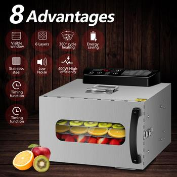 KWASYO  6 Trays  Food  Dehydrator  Fruit  Drying  Machine Dryer For Vegetables  Dried  Fruit   Meat Drying Machine Stainless Ste 1