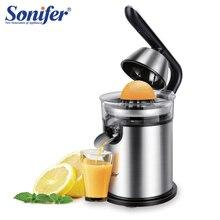 Exprimidor de cítricos de limón de 300W en licuadora de acero inoxidable, exprimidor eléctrico de cítricos para el hogar, exprimidor manual de naranja Sonifer