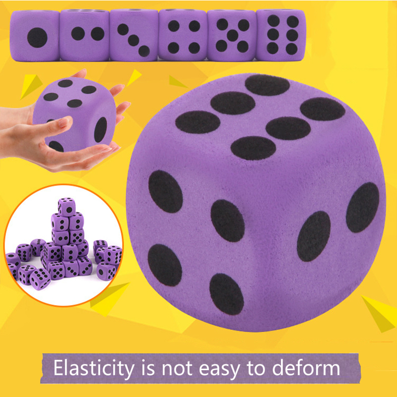 Children Early Intelligence Creative Toy Kid Big Size 3.8 Cm EVA Foam Playing Dice Block Party Toy Parent-child Interactive Game